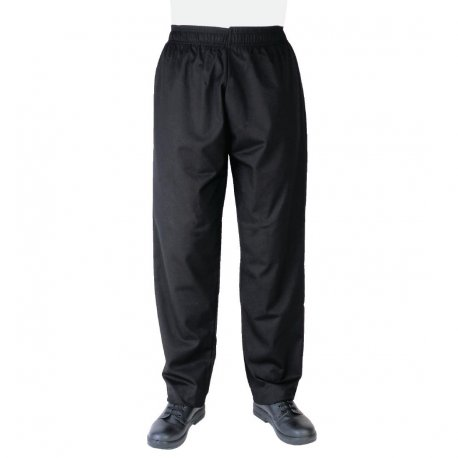 Whites Vegas Chef Trousers Polycotton Black - M