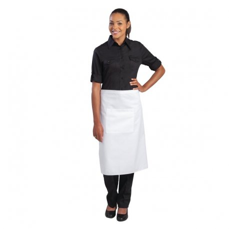 Chef Works Regular Bistro Apron White