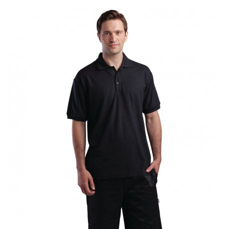 Unisex Polo Shirt Black L