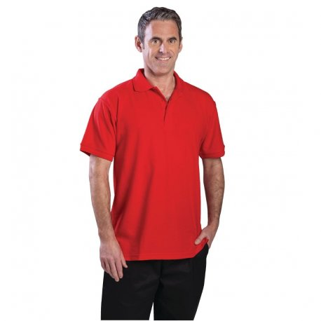 Unisex Polo Shirt Red M