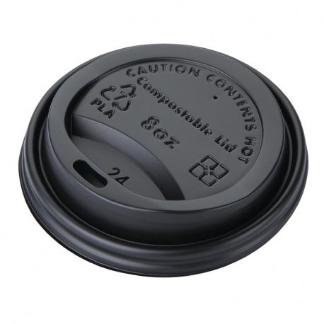 Fiesta Green Compostable Coffee Cup Lids 225ml / 8oz (Pack of 50)