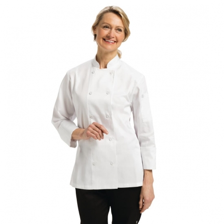 Chef Works Marbella Womens Executive Chefs Jacket White S