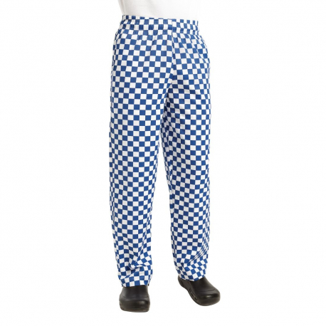 Chef Works Essential Baggy Pants Big Blue Check M