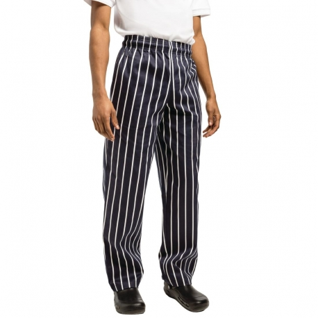 Chef Works Unisex Easyfit Chefs Trousers Butchers Stripe XL