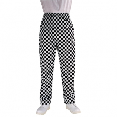 Chef Works Essential Baggy Pants Big Black Check S