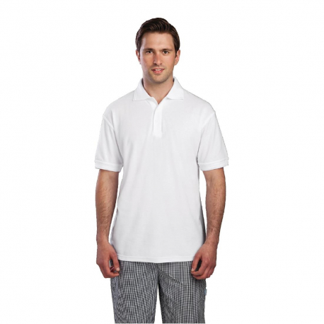 Unisex Polo Shirt White S