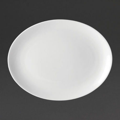 Utopia Pure White Oval Plates 250mm (Pack of 24)
