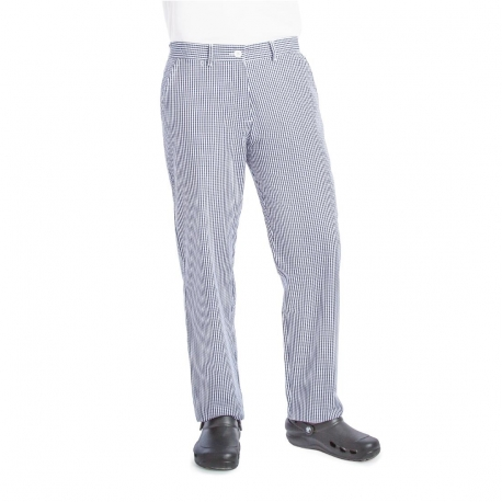 Whites Womens Chef Trousers Blue and White Check 38in