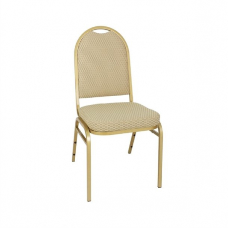 Bolero Steel Banquet Chairs with Neutral Cloth (Pack of 4)