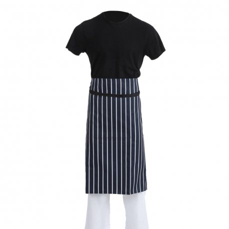 Whites Butchers Waist Apron Blue and White Stripe