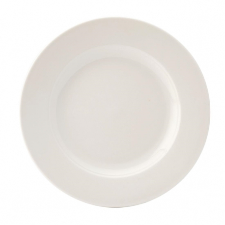 Utopia Pure White Wide Rim Plates 230mm (Pack of 24)