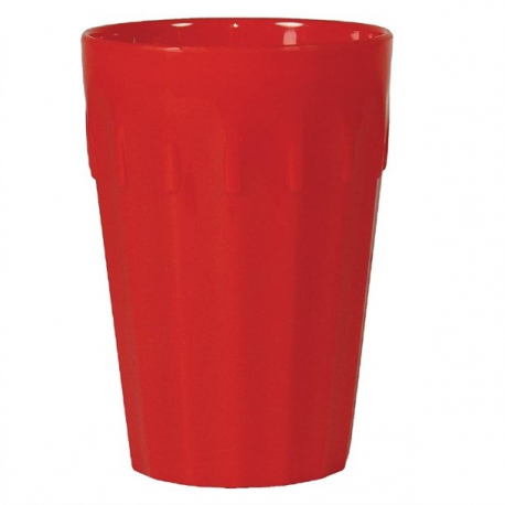 Kristallon Polycarbonate Tumblers Red 260ml (Pack of 12)