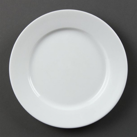 Olympia Whiteware Wide Rimmed Plates 202mm (Pack of 12)