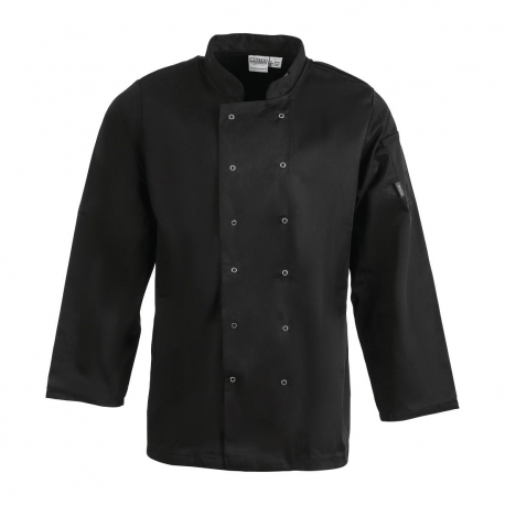 Whites Vegas Unisex Chef Jacket Long Sleeve Black -S