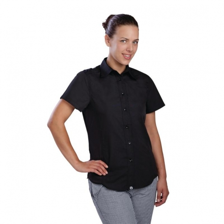 Chef Works Womens Cool Vent Chefs Shirt Black XL