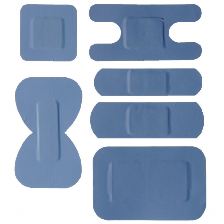 Blue Assorted Plasters (Pack of 100)