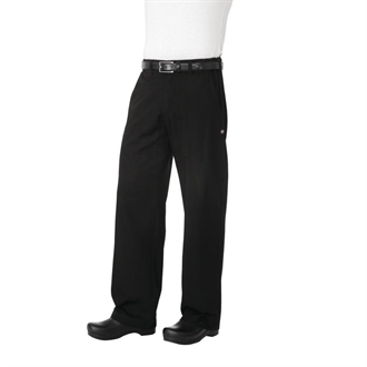 Chef Works Unisex Professional Series Chefs Trousers Black Herringbone S