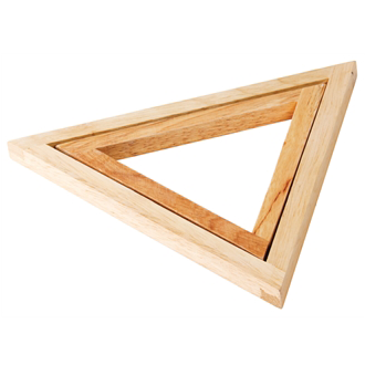 Wooden Heat Triangles Image