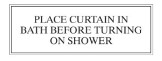 Shower Curtain Advice Notice