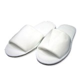 Plush Velour Slippers - Rubber Sole