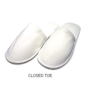 Towelling Slippers - Open Toe Rubber Sole (1000 pcs)