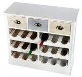 Wine Cabinet with 3 Drawers 80 x 34 x 72 cm