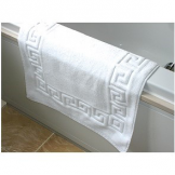 800g Cotton Bath Mat Greek Key (6 pcs)