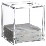 Clear Acrylic Serene Square Tissue Box