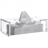 Clear Acrylic Serene Rectangular Tissue Box
