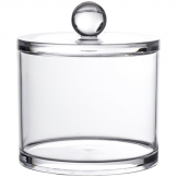 Clear Acrylic Serene Large Storage Jar