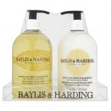Baylis & Harding 500ml Sweet Mandarin & Grapefruit Hand Wash + Hand & Body Lotion in Clear Acrylic Tray (6 pcs)