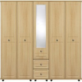 VIRGO 5 Door robe with 2 central drawers and mirror
