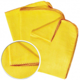 Yellow Duster hemmed 50 x 40cm X 2