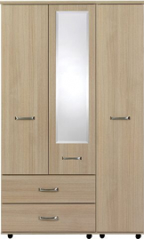VIRGO 3 Door robe with 2 LH side bottom drawers
