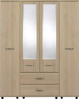 VIRGO 4 Door robe with centre mirror panel & 2 x Drawers