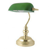 "Lloytron 15"" 45W 'Advocate' Bankers Desk Lamp - Green (Case of 4)"