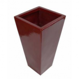 70cm Tall Fibreglass Tapered Planter Red Gloss