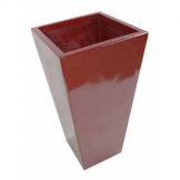 90cm Tall Fibreglass Tapered Planter Red Gloss