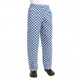 Chef Works Unisex Easyfit Chefs Trousers Big Blue Check S