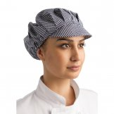 Whites Peaked Unisex Hat Blue and White Check