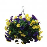 "Bolero 22"" Purple and Yellow Artificial Pansies Ball"