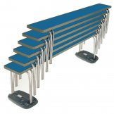 Gopak Contour Stacking Bench Blue 6ft