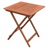 Bolero 600mm Square Wooden Folding Table