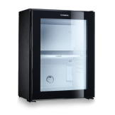 Dometic Silent Hotel Room Glass Door Mini Fridge Black RH 430 LG (30 Litre)