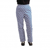 Whites Easyfit Trousers Teflon Big Blue Check XS