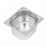 Vogue Heavy Duty Stainless Steel 1/6 Gastronorm Pan 100mm