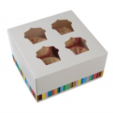 Colpac Four-Cavity Cupcake Boxes (Pack of 4)