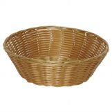 Poly Wicker Round Food Basket (Pack of 6)