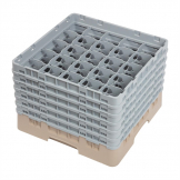 Cambro Camrack Beige 25 Compartments Max Glass Height 298mm