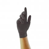Pearl Powder-Free Nitrile Gloves Black Extra Large